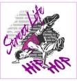 Hip hop dancer on grunge background vector image