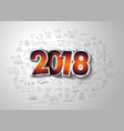 2018 new year infographic and business plan vector image vector image