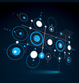 3d abstract blue background created in bauhaus vector image vector image