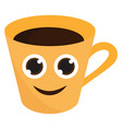 a cup or color vector image vector image