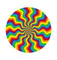 abstract circular pattern multicolored wavy vector image vector image