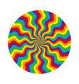 abstract circular pattern of multicolored wavy vector image vector image
