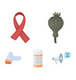 aids tape tablets opium poppy a tube for vector image vector image