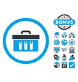 Analysis Box Flat Icon with Bonus vector image vector image