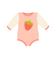 baby suit clothes and romper vector image vector image