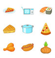bakeshop icons set cartoon style vector image vector image