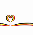 belgian flag heart-shaped ribbon vector image