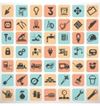 big set work tools and construction icons and vector image