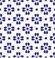 blue and white cerami pattern vector image vector image