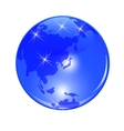 Blue planet earth View from Japan China and the vector image