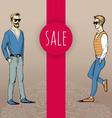 Boys People sketch sale vector image vector image