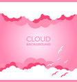 clouds in the sky with sun rays flat in cartoon vector image