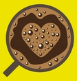 Coffee with love image vector image