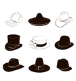 Collection of hats vector image