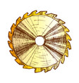 color carpentry tool detail circular saw blade vector image vector image