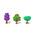 colorful fantasy trees fantastic plants nature vector image