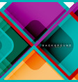 colorful round squares modern geometric background vector image vector image