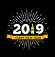 congratulations to happy new 2019 year with a vector image vector image
