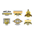 craft beer premium quality logo set vintage vector image vector image