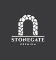creative gate logo design vector image vector image