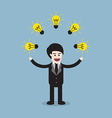 creative idea business man vector image