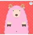 Cute big fat aries zodiac cartoon