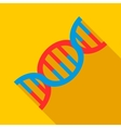 DNA icon flat style vector image vector image