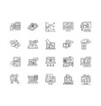financial service provider line icons signs vector image vector image
