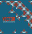 geometric tiles decoration background vector image vector image