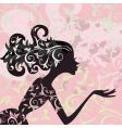 glamour girl hair ornament vector image vector image