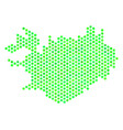 green hex-tile iceland map vector image vector image