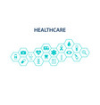 Healthcare concept abstract hexagons shape