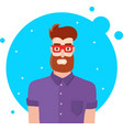 hipster man character vector image vector image