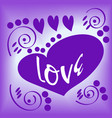 love and valentine day lettering vector image