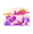 low cost flights concept vector image
