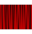 Luxury creases red curtain and many shadows vector image
