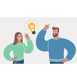 man and woman have a great idea vector image vector image