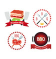 meat barbecue grill icon bbq flat style vector image
