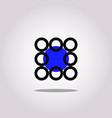 modern abstract circle logo icon and symbol vector image vector image