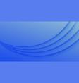 modern blue wave presentation background vector image vector image