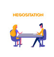 negosiation flat design vector image