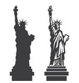 new york statue liberty silhouette vector image vector image