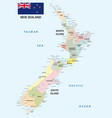 new zealand administrative and political map vector image