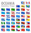 oceanian national flag set