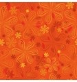 Orange floral seamless pattern vector image vector image