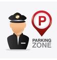 Parking zone graphic design vector image
