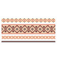 pattern for traditional ukrainian cross-stitch vector image vector image