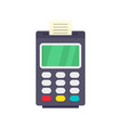 payment bank terminal paper icon flat style vector image