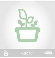 Plant in pot icon garden flowerpot vector image