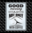 quotation on a theme of coffee on white board and vector image vector image